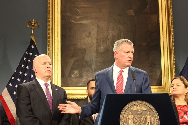 Mayor Bill de Blasio called President Donald J. Trump's executive order calling for jurisdictions that protect undocumented immigrants to lose federal funding