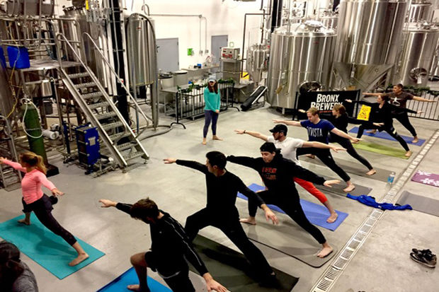 People who enjoy practicing yoga and drinking beer can now do both at the Bronx Brewery.