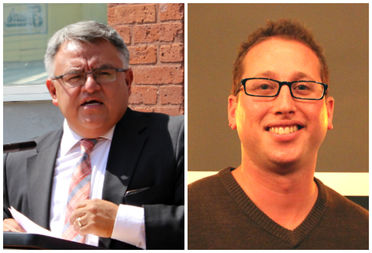 Raul Raymundo, executive director of The Resurrection Project (left), was among Pilsen leaders who endorsed a letter that referred to Property Markets Group developer Noah Gottlieb (right) as