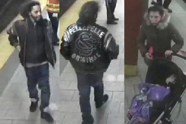 Police are looking for a couple they said threatened a man with a box cutter after a dispute at the City Hall subway station on Centre Street on Jan. 13.