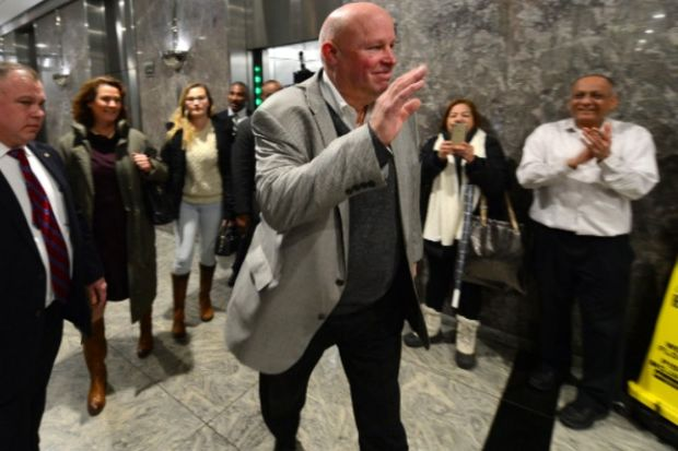 Tom Prendergast walked out of MTA headquarters for the last time as chairman and CEO of the transit authority Tuesday.