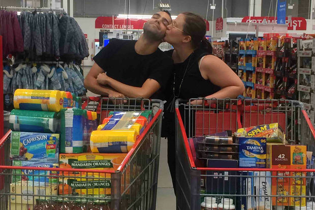 Distillery employee Katie Adams and her fiance Sebastian Gonzalez are raising funds to buy essentials for family in Puerto Rico.