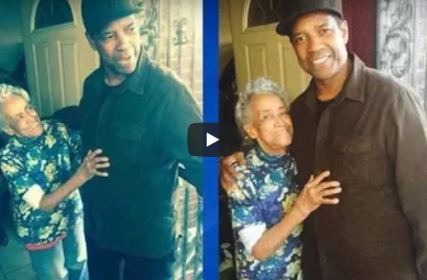 Denzel Washington stopped at a home in Avalon Park over the weekend.
