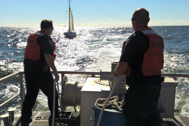 He had no radio, his engine broke, his sail tore and his cellphone ran out of battery, police said.