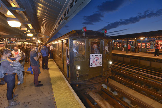 The MTA is running the 1917 train from Grand Central to Yankee Stadium before Tuesday night's game.