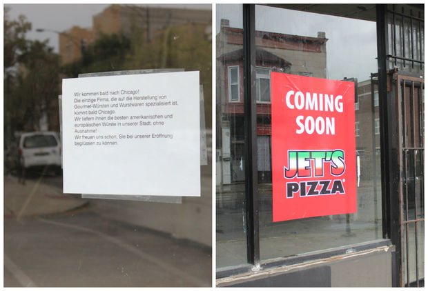 The sausage spot is opening at 3301 W. Armitage Ave, while the Jet's Pizza is opening at 3510 W. Armitage Ave.