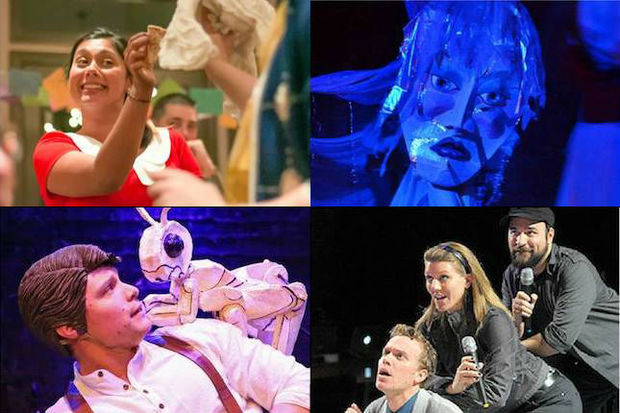 Clockwise from top left: the theater will perform scenes from