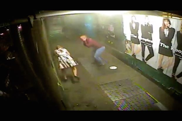 Surveillance footage captured the moment a bomb exploded on West 23rd Street in Chelsea.