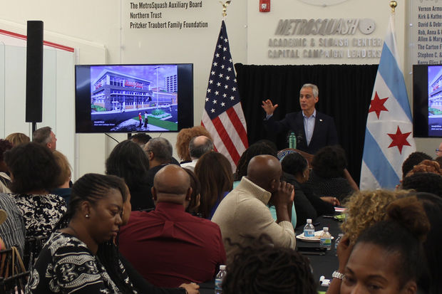 Mayor Rahm Emanuel on Tuesday promised that work would start on redoing the Cottage Grove Green Line station by the first half of next year.