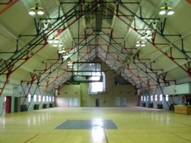 The gymnasium at Liggett Hall barracks on Governors Island was only open to the public once before, during Open House New York in October 2008.