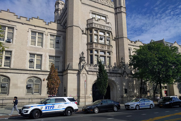 A student was slashed outside Erasmus Hall High School in Flatbush Thursday afternoon, Oct. 5, 2017.