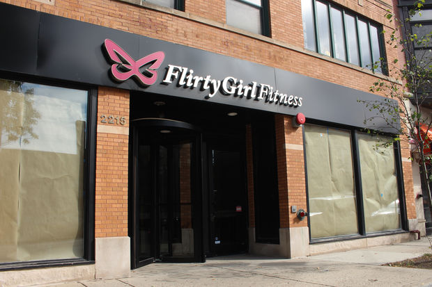 The poles are closed at Flirty Girl Fitness.