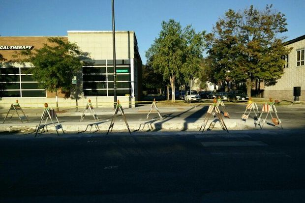 The pedestrian islands were removed after being