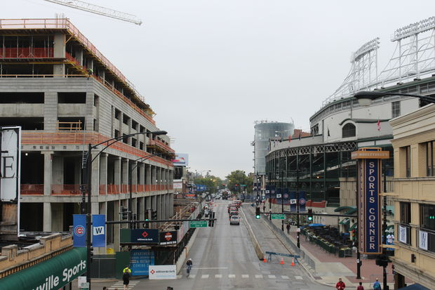 Due to a few big developments, Wrigleyville looks a lot different this year compared to the 2016 postseason.