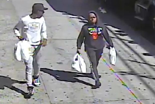 Police are asking for help finding these two suspects who they say attacked a woman inside a Bronx supermarket.