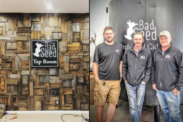 The creators of Bad Seed cider are planning to open a cider-centric tap room in Crown Heigths, left.