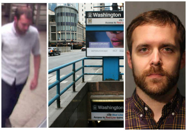 Chad Estep, 34, is accused of pushing a stranger onto CTA tracks at the Washington Blue Line station.