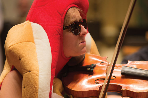 The University of Chicago Symphony Orchestra dresses up in costumes for its annual Halloween concert.