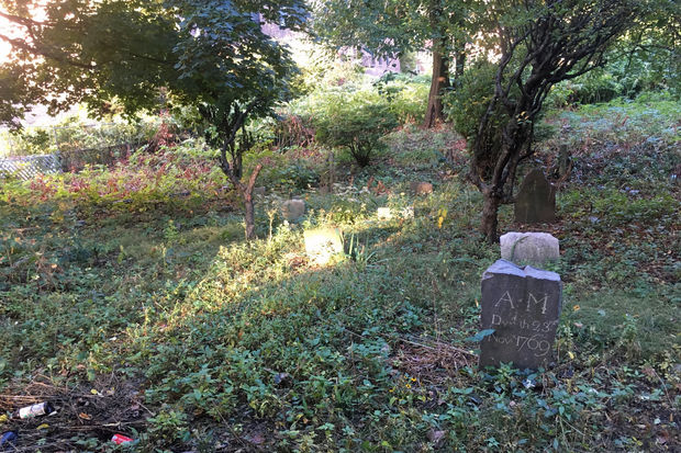 Though the cemetery was once recorded as having as many as 42 headstones, only about 15 still exist today.