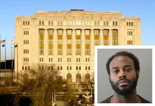 QuishawnChambers, wanted on an aggravated battery charge, was quickly nabbed north of the courthouse.