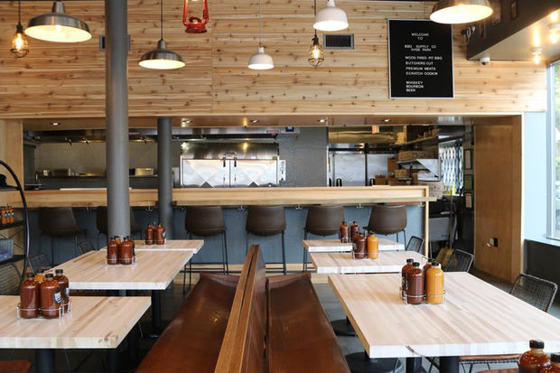 BBQ Supply Co. has kept a lot of the original layout of Yusho.