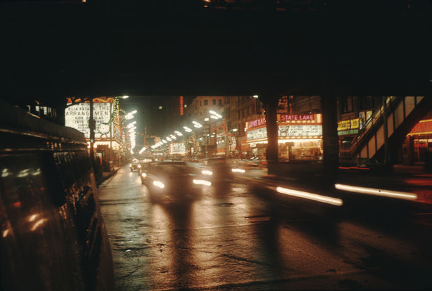 Victor Grigas took this shot of the Loop movie district at State and Lake most likely in 1969.