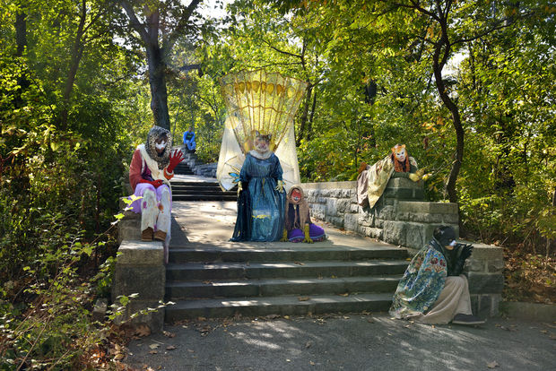 An image from Prospect Park's Haunted Walk.