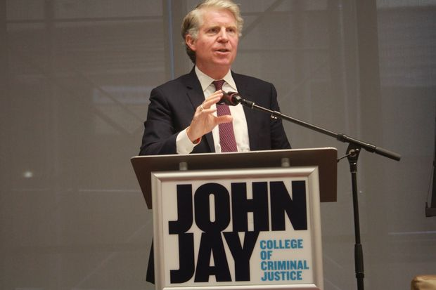Manhattan DA Cyrus Vance spoke at an event at John Jay College in Midtown on Wednesday.