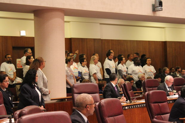 About 40 members of Neighbors for Affordable Housing in Jefferson Park attended Wednesday's City Council meeting in a rededication of their effort to support affordable housing across the region.