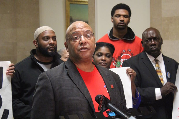 Michael Brunson of the Chicago Teachers Union said it is joining the call for a community benefits agreement as plans to take the fight to the City Council are delayed by a month.
