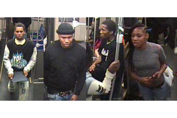 Police said these men and woman attacked and robbed a man Sunday in Streeterville.