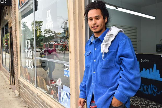 Joshuah Marin, 20, just opened his third Fix Your Kicks cobbling location in Edgewater.