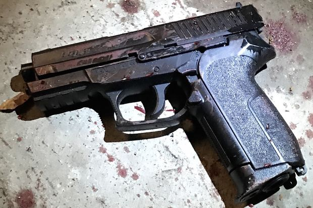 Police shot a 19-year-old man who they said was armed with a BB gun in Brooklyn Thursday night.