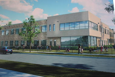 Byrne Elementary in Garfield Ridge broke ground on an expansion that will include 16 new classrooms, a music room, science lab and library.