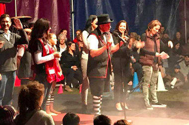 A charity performance under the Big Top in Welles Park pulled in big bucks for the Red Cross.