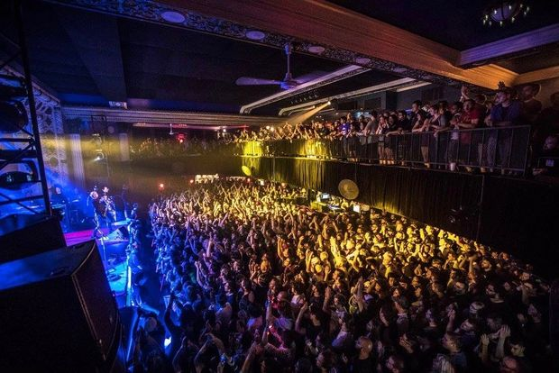 The crowd at a Blink-182 show at the Metro in August.