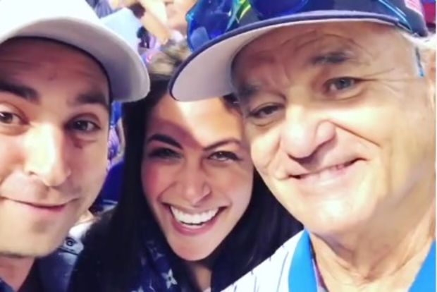 Bill Murray with Robbie and Kirsten Barrish Schloss.