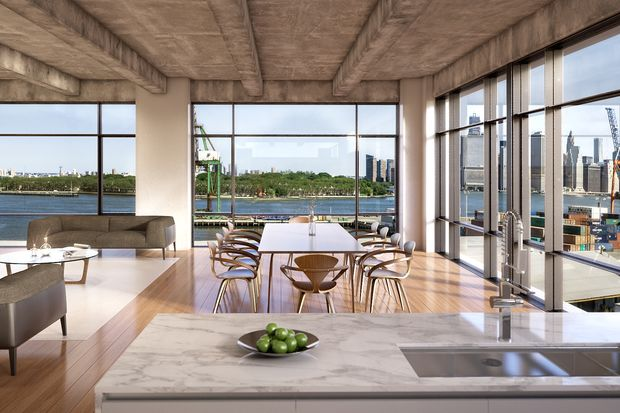 The high-end renovation of the New York Dock Building at 160 Imlay St. in Red Hook.
