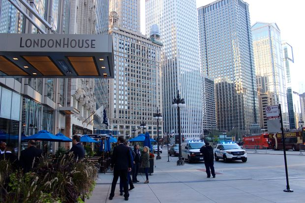 A 44-year-old man died Monday after falling from the LondonHouse hotel at Michigan and Wacker, authorities said.