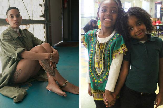 Genesis Bones (left) and Damia Freeman are Betty Shabazz Academy students.