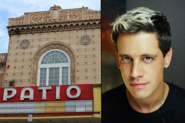 Milo Yiannopoulos had been booked to appear at the Patio Theater on Nov. 13.