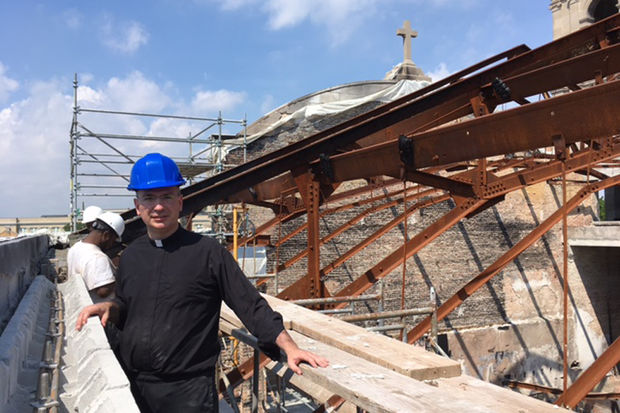 Rev. Matthew Talarico said the new roof will start going up in November and should be complete by the spring.