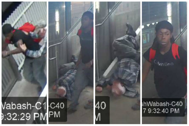 An 81-year-old man was hospitalized following a robbery Monday night at the new Washington-Wabash CTA station.