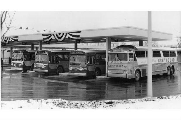 A photo of the Jefferson Park Transit Center on Jan. 30, 1970, the day it opened