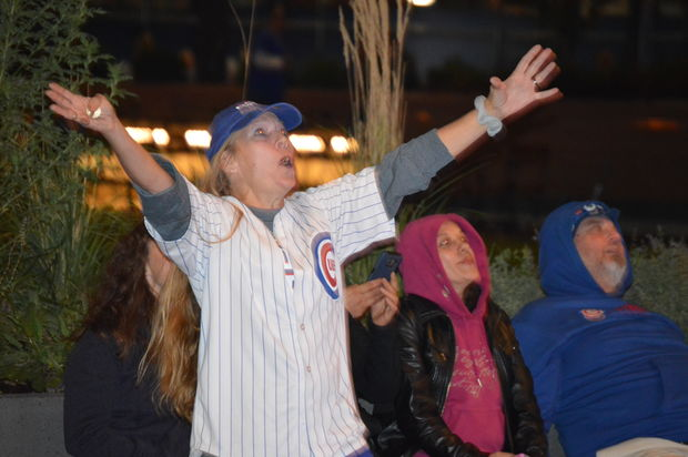 The Cubs beat the Dodgers Wednesday night at Wrigley Field.