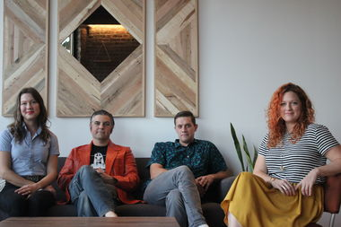 Emily Moorhead-Wallace, J. Taylor Wallace, George Schaefer and Leigh-Anne Riebold (left to right) are opening a gallery for their businesses, Metal Magic Interiors and Norman Leigh.
