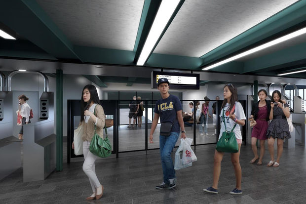 A rendering of what the Astoria station mezzanines will look like after renovations under the MTA's Enhanced Station Initiative.