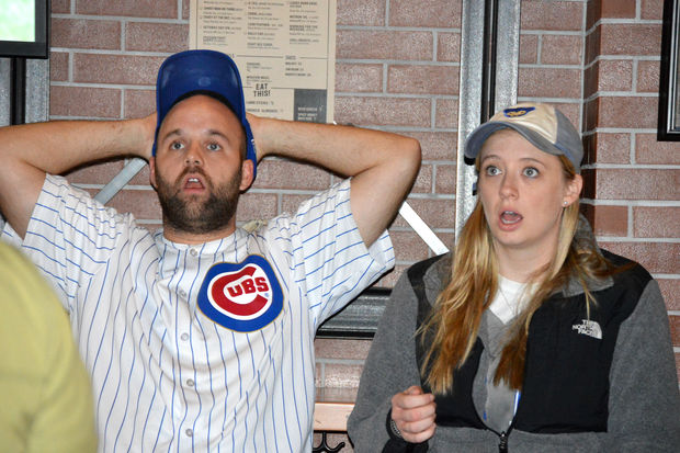 Fans can't hide their shock as the Cubs get pummeled by the Dodgers Thursday night.