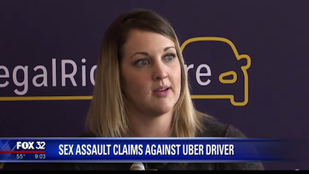 Elizabeth Hammond is suing Uber after she says she was sexually assaulted by one of the ride-share service's drivers last month.