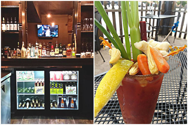 The Growling Rabbit's bar is freshly stocked and now serving up ambitious Bloody Marys.